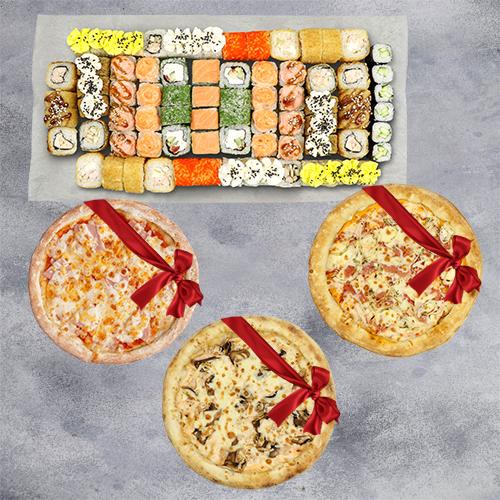 Мега сет + 3 пиццы из группы эконом в подарок