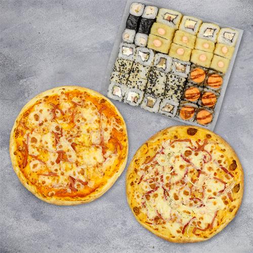 Комбо «1кг роллов и 2 пиццы» из группы ЭКОНОМиЯ