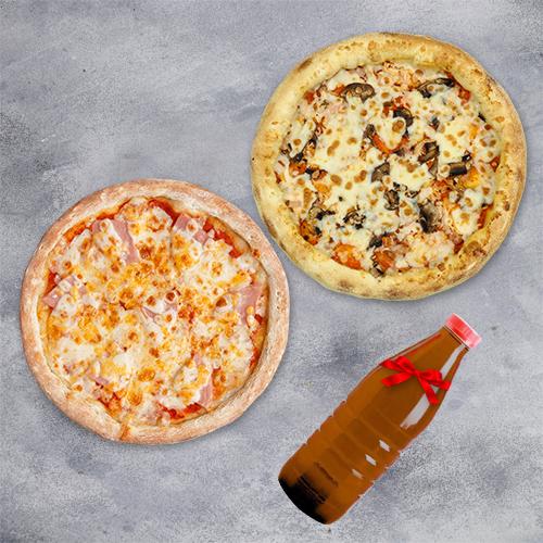 Комбо «2 пиццы и напиток в подарок» из группы ЭКОНОМиЯ