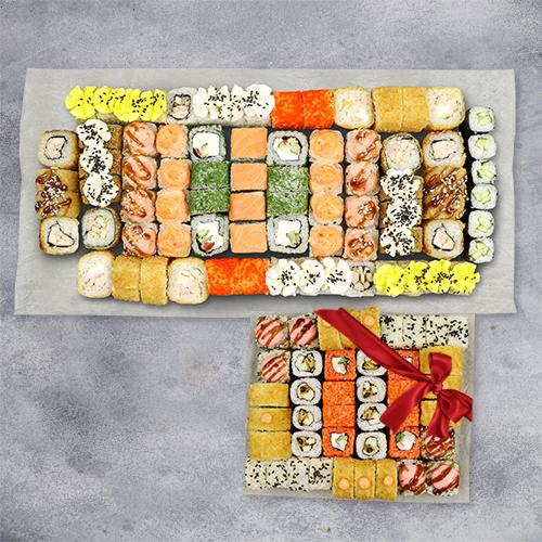 Мега сет + набор из шести роллов из группы эконом в подарок