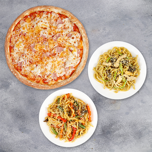 Комбо «Большая пицца+ 2 вока»