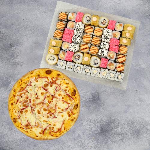 Комбо Большое №1 (1430 г / 56 шт + пицца на тонком тесте из группы «Экономия»)