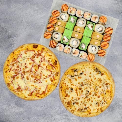 Комбо Лучше дома №2 (1080 г / 40 шт + 2 пиццы на тонком тесте из группы «Экономия»)