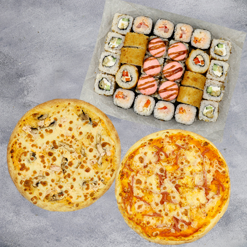 Комбо Для тебя №2 (720 г / 28 шт + 2 пиццы на тонком тесте из группы «Экономия»)