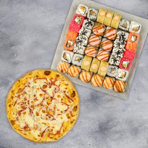 Комбо Доброе №1 (1090 г / 42 шт + пицца на тонком тесте из группы «Экономия»)
