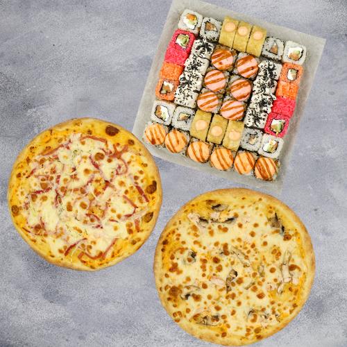Комбо Доброе №2 (1090 г / 42 шт + 2 пиццы на тонком тесте из группы «Экономия»)