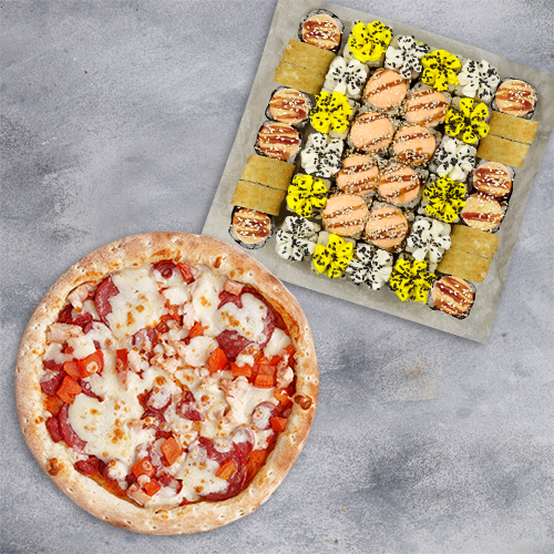 Комбо Гармония №1 (1070 г / 40 шт + пицца 21 см из группы «Вкуснее»)