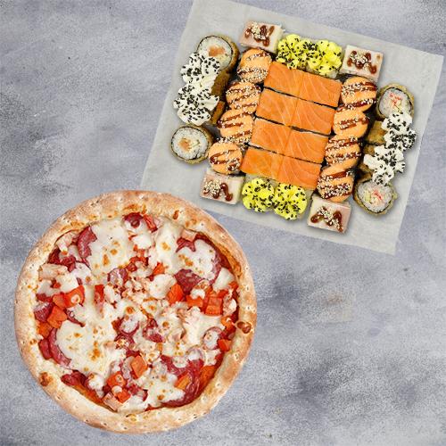 Комбо Гурман №1 (850 г / 32 шт и пицца 21 см из группы «Вкуснее»)
