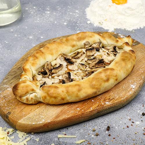 Хачапури с курицей и грибами