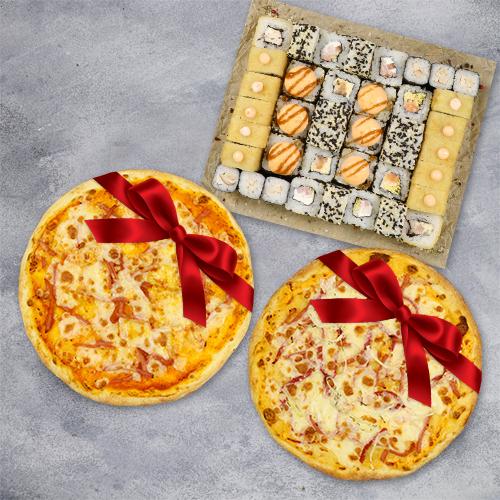 Комбо «1,2 кг роллов + 2 пиццы в подарок» из группы «ЭКОНОМиЯ»