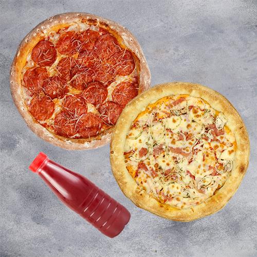 Комбо Позитив (2 пиццы 21см + морс из лесных ягод 1л)