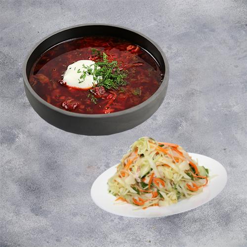 Комбо Русское (борщ + салат витаминный)