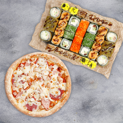 Комбо Яркое (1100 г / 40 шт и пицца 21 см)