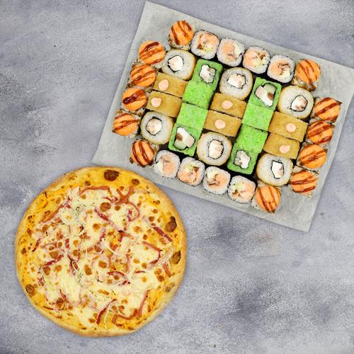 Комбо Лучше дома №1 (1080 г / 40 шт + пицца на тонком тесте из группы «Экономия»)
