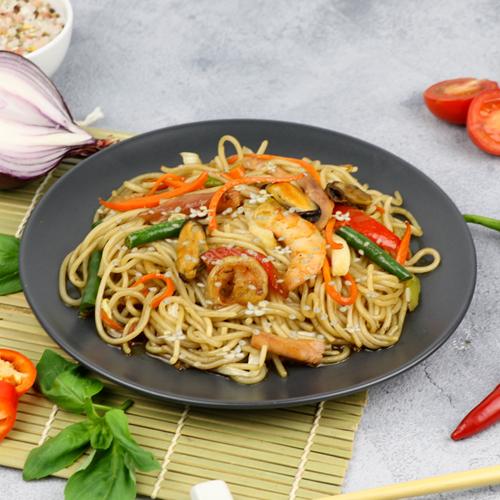 Вок Бай-ли с морепродуктами