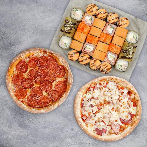 Комбо На Максималках (875 г / 32 шт и 2 пиццы 21 см)