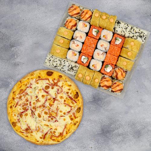 Комбо Осеннее №1 (1070 г / 42 шт + пицца на тонком тесте из группы «Экономия»)