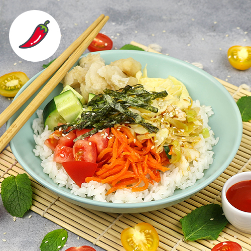 Поке по-корейски с рыбой