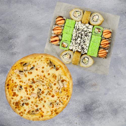 Комбо То что нужно №1 (720 г / 28 шт + пицца на тонком тесте из группы «Экономия»)