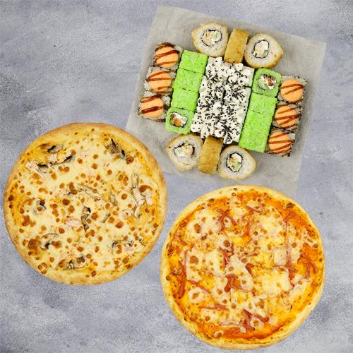 Комбо То что нужно №2 (720 г / 28 шт + 2 пиццы на тонком тесте из группы «Экономия»)
