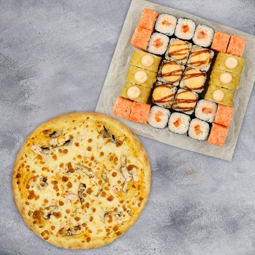 Комбо Твое №1 (725 г / 28 шт + пицца на тонком тесте из группы «Экономия»)