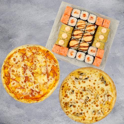 Комбо Твое №2 (725 г / 28 шт + 2 пиццы на тонком тесте из группы «Экономия»)