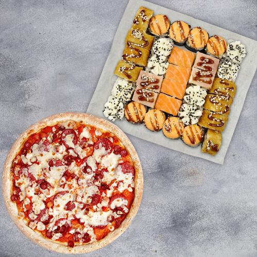 Комбо Вкусно жить №1 (840 г / 32 шт + пицца 21 см из группы «Вкуснее»)