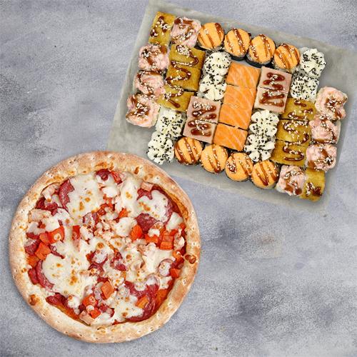 Комбо Вкусно жить №1 (1085 г / 40 шт + пицца 21 см из группы «Вкуснее»)
