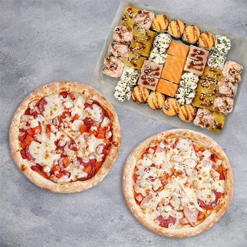 Комбо Вкусно жить №2 (1085 г / 40 шт + 2 пиццы 21 см из группы «Вкуснее»)