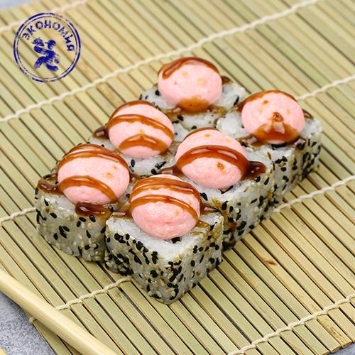 Запеченный ролл Токио с копченым лососем