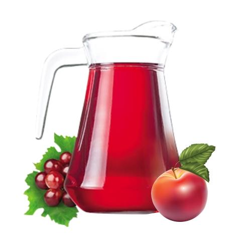 Компот из яблок и вишни собственного приготовления 1 л