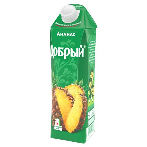Сок Добрый Ананас 1 л.
