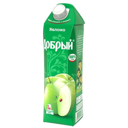 Сок Добрый Зеленое яблоко 1 л.