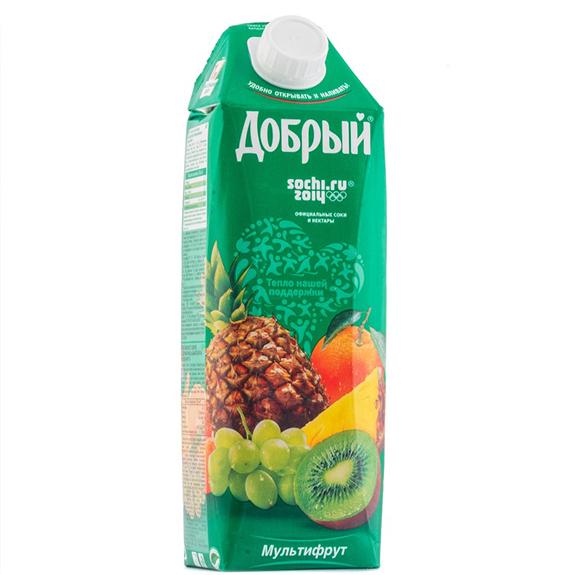 Сок Добрый Мультифрукт 1 л.