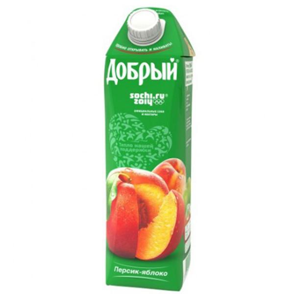 Сок Добрый Персик-Яблоко 1 л.